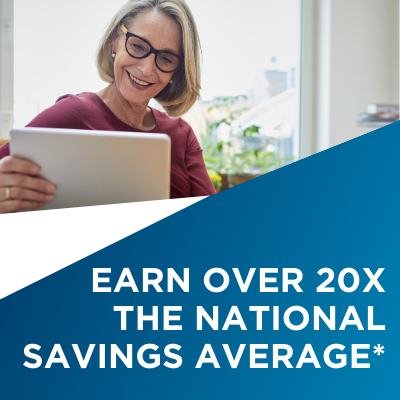 Earn Over 20x The National Savings Average*