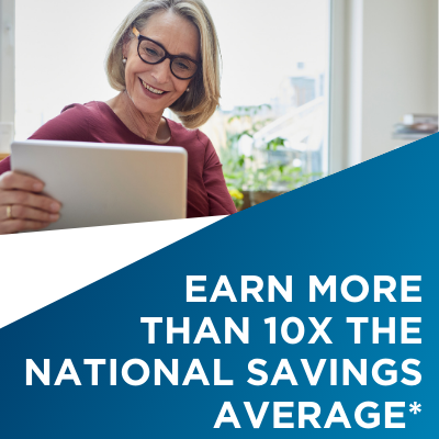 Earn more than 10x the national savings average